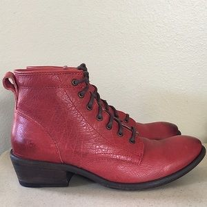 """FRYE """"CARSON"""" LACE UP ANKLE BOOTS"""